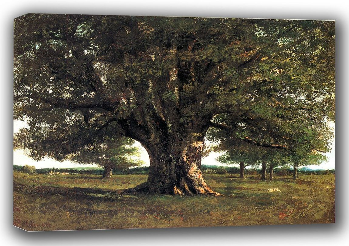 Courbet, Gustave: The Oak of Flagey, called Vercingetorix. Fine Art Canvas. Sizes: A3/A2/A1 (001045)